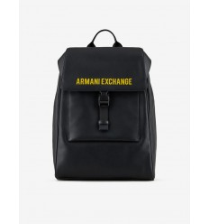 Armani Exchange zaino nero logo giallo
