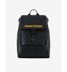 Armani Exchange zaino nero logo giallo