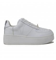 WINDSOR SMITH SNEAKER RACERR PELLE BIANCO 2