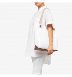 Gum Design borsa a spalla valencia bianco