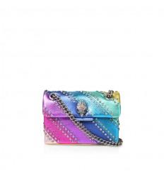 Kurt Geiger leather mini crystal kensington bag multi