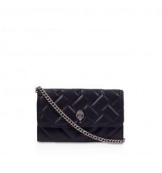 Kurt Geiger leather chain wallet black