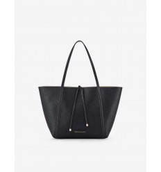 Armani Exchange borsa shopping double nero fluo