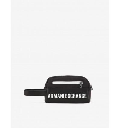 Armani Exchange pochette big logo black white