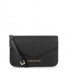 Lancaster mini clutch saffiano signature black