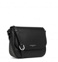 Lancaster smooth even crossbody bag black