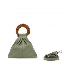 Gianni Chiarini borsa lila pelle verde tenue