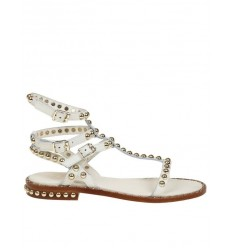 ASH sandal play white gold