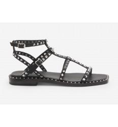 ASH sandal maeva black silver