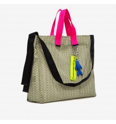 GUM DESIGN BORSA BIG MONOGRAM BIANCO FUXIA