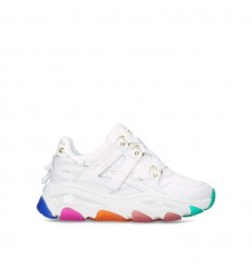 KURT GEIGER LONDON SNEAKER LETTIE LEATHER WHITE