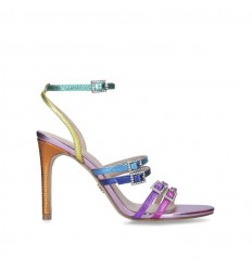 KURT GEIGER LONDON PIERRA SANDAL LEATHER MULTICOLOR