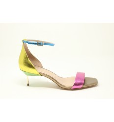 KURT GEIGER LONDON SANDAL BIRCHIN LEATHER MULTICOLOR
