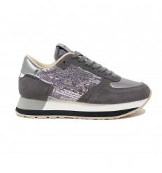 SUN68 kate velvet paillettes grigio scuro sneakers donna