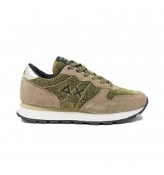 SUN68 ally thin glitter oro-verde sneakers donna