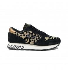 SUN68 ally animal glitter beige-nero sneakers donna