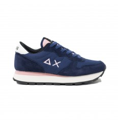 SUN68 ally solid navy blue sneakers donna