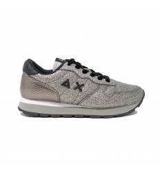SUN68 ally solid glitter argento sneakers donna