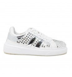 JOHN RICHMOND SNEAKERS BORCHIATA PELLE BIANCO