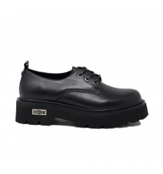 CULT SLASH 3041 SCARPA BASSA LEATHER BLACK