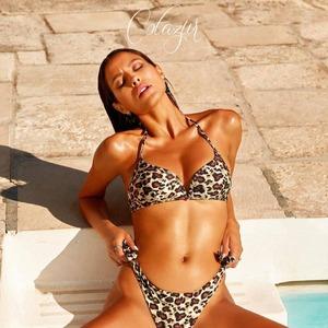 Good sunday ☀️ @marianarodriguez53 in the new bikini animalier by @cotazurbeachwear! Disponibile in Store. Siamo aperti anche il lunedì mattina‼️#beachwear #summer21